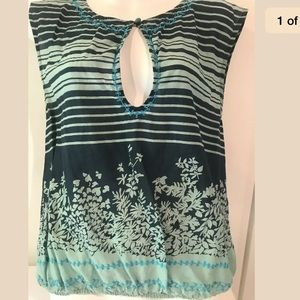Free People Sz 6 Floral Tank top shirt.